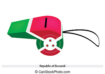 White, Red and Green Colors on Burundi Whistle