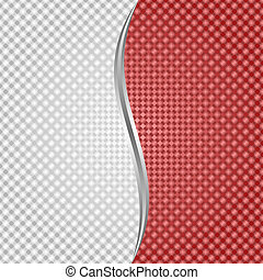 white red background