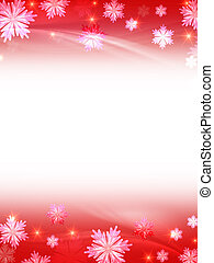 white red christmas background with crystal snowflakes,...