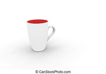 White-Red Coffee Mug