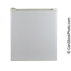 White refrigerator. Isolated over white with clipping path