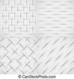 White relief pattern set