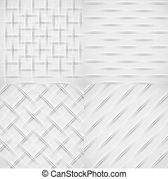 White relief pattern set