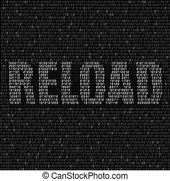 white reload code background