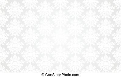 White retro wallpaper background.