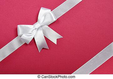 White ribbon whith bow