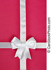 White ribbon with bow