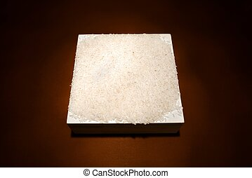 White rice background