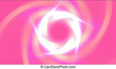 white ring laser in pink background