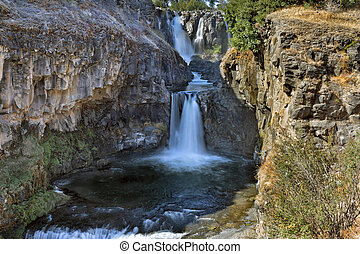 White River and Celestial Falls in Tygh Valley Oregon
