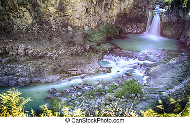 White River water fall in Oregon