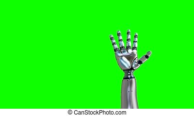 White Robot Arm Hand OK Gesture. Success Concept. 3d Render...
