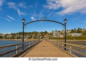 White Rock Pier in BC Canada - White Rock Pier in British...