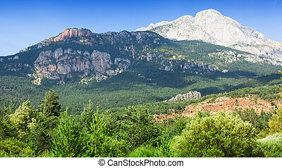 White rocky mountain in summer day. Pyrenees, Spain
