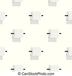White roll of toilet paper on a holder pattern