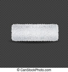 White rolled towel on transparent background