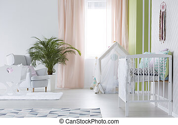 White room for baby