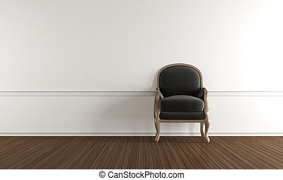 White room with classic armchair