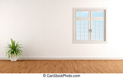 White room with windows