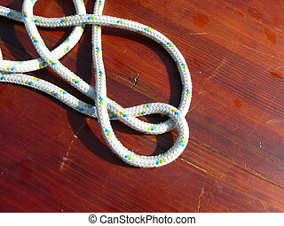 white rope on the deck