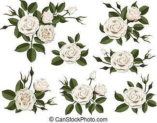 White rose boutonniere set - White rose boutonniere. Set for...