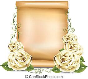 White Roses Paper