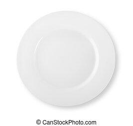 White round empty plate