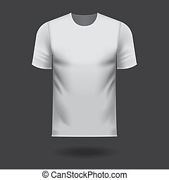 White round neck tee shirt on grey background with drop shadow