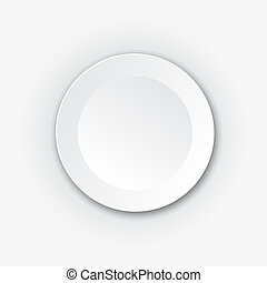 White round vector button