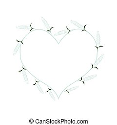 White Sage Flowers in A Heart Shape - Love Concept, ...