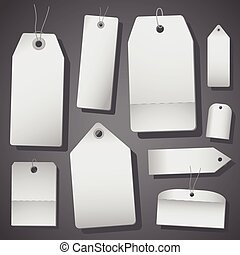 White sales tags isolated on white