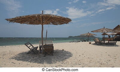 White sand beach on the island - Island at Ngapali beach,...