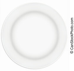 White Sandwich Plate - White sandwich plate, taken from...