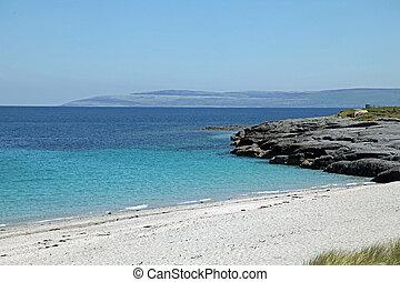 Fair weather and a sandy beach