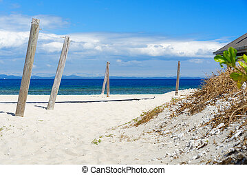 White sandy beach in Fiji