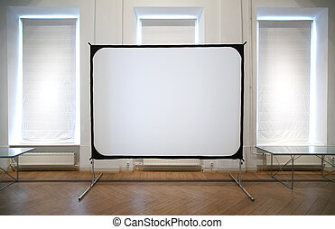 white screen in room