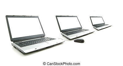 white screen in three laptop