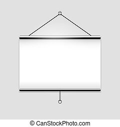 White screen projector clean background