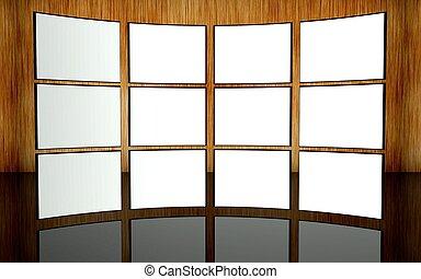 White screen video wall