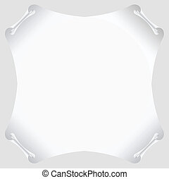 white scroll paper vector blank