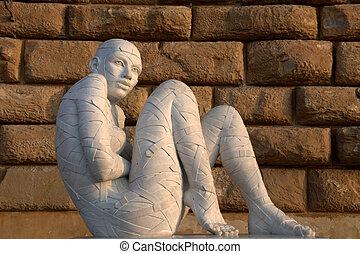 White Sculpture at Pitti Palace Flo