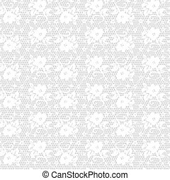 white seamless lace floral pattern on gray background