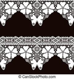 White seamless lace pattern