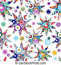 White seamless pattern Christmas Star