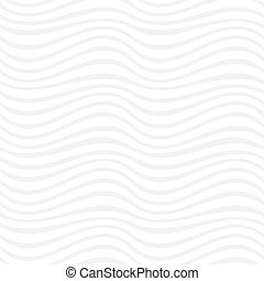 White seamless pattern of abstract waves