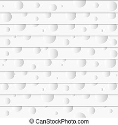 White seamless pattern with paper circles