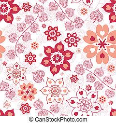 White seamless valentine pattern