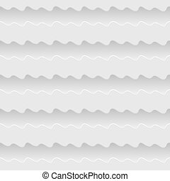 white seamless waves abstract vector pattern background