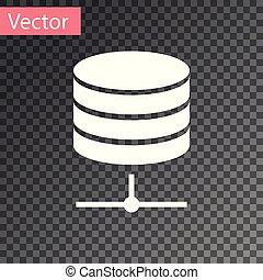 White Server, Data, Web Hosting icon isolated on transparent...