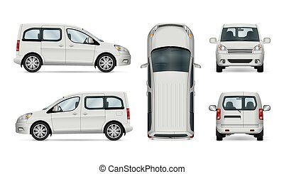 White service car template.